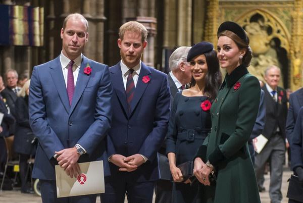 威廉王子、哈利王子、梅根、凯特王妃