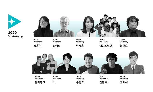 韩国CJ评比2020年度文娱名流 奉俊昊刘在石等上榜