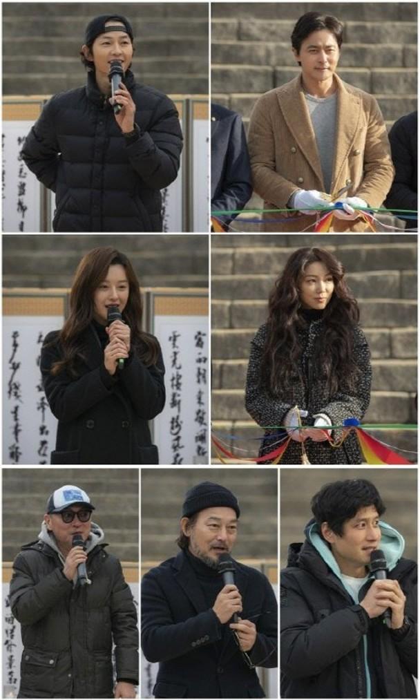 韩国男神宋仲基与张东健及金智媛合作。