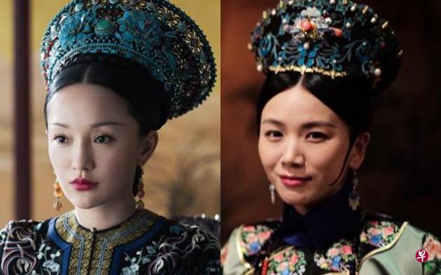 曹曦文饰的婉嫔(右)是日本人最喜欢,周迅扮演的如懿仅排名第三。