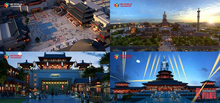 CG渲染效果图:通天帝国区皇城俯瞰;通天帝国全貌;应天门;通天浮屠