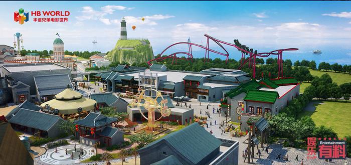 苏州电影乐园-太极区鸟瞰CG渲染图