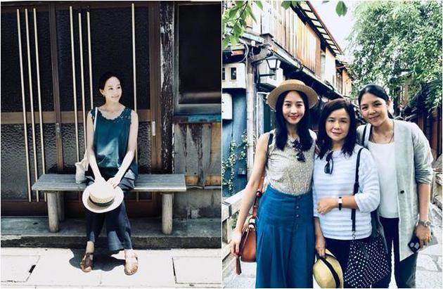 张钧甯晒与妈妈姐姐出游照