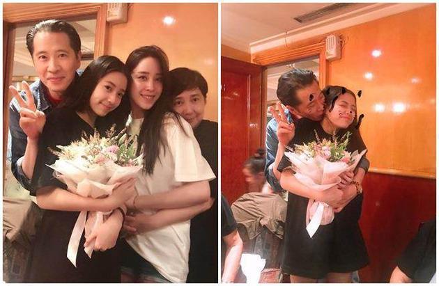 欧阳娣娣与家人庆14岁生日 欧阳娜娜暖心奔回家图片