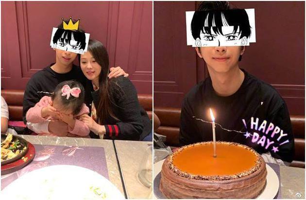 伊能靜慶祝兒子17歲生日。