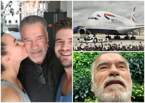斯瓦辛格乘坐的飞机遇上事故紧急降落。