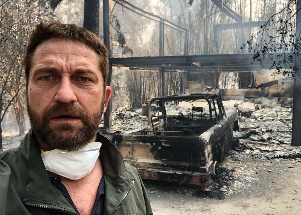 杰拉德豪宅被烧成灰,不急于重修,为灾民筹款获网友点赞。