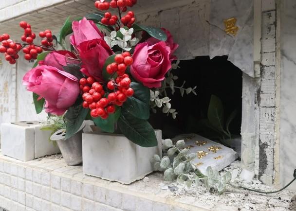 首届金马影后尤敏与丈夫骨灰龛位被毁 陪葬品被盗