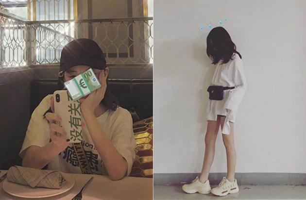 李嫣晒出自己的照片