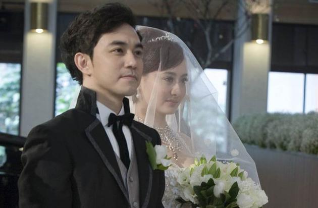 陈德容与老公昔日婚礼照片