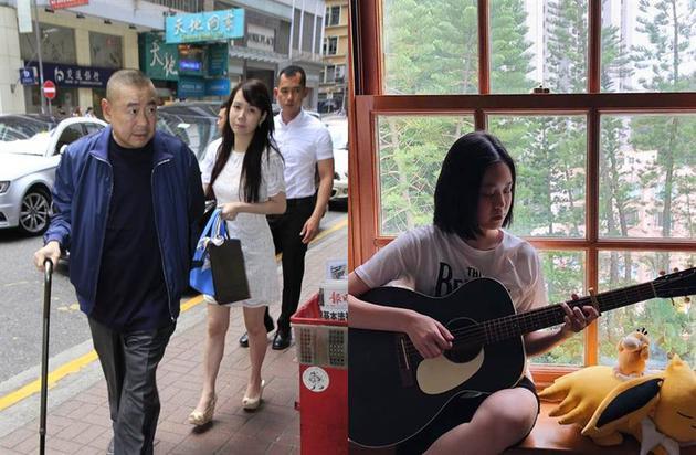 """香港富商""""大刘""""(左)女儿刘秀盈(右)"""