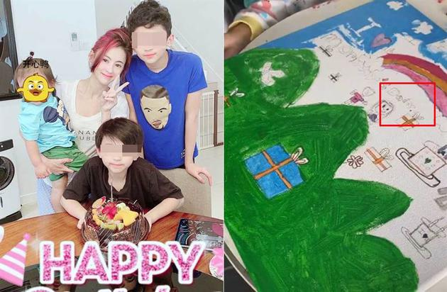 谢霆锋生日隔天张柏芝晒照 小儿子蛋糕上写Daddy
