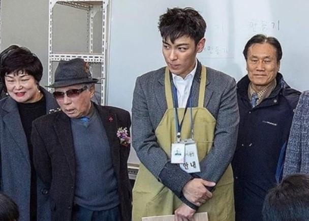 卷大麻案转任公益兵 Bigbang成员TOP今日退伍