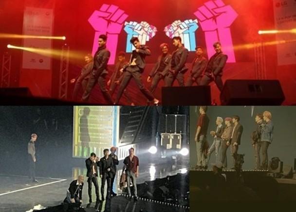 EXO演唱会台下老鼠出没 粉丝连连尖叫获偶像安慰