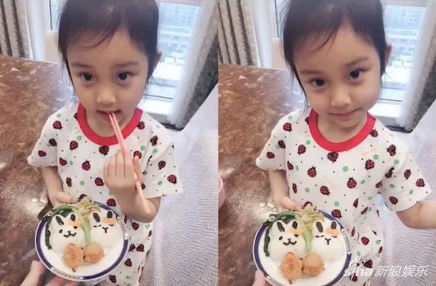 甜馨为李小璐做母亲节爱心餐