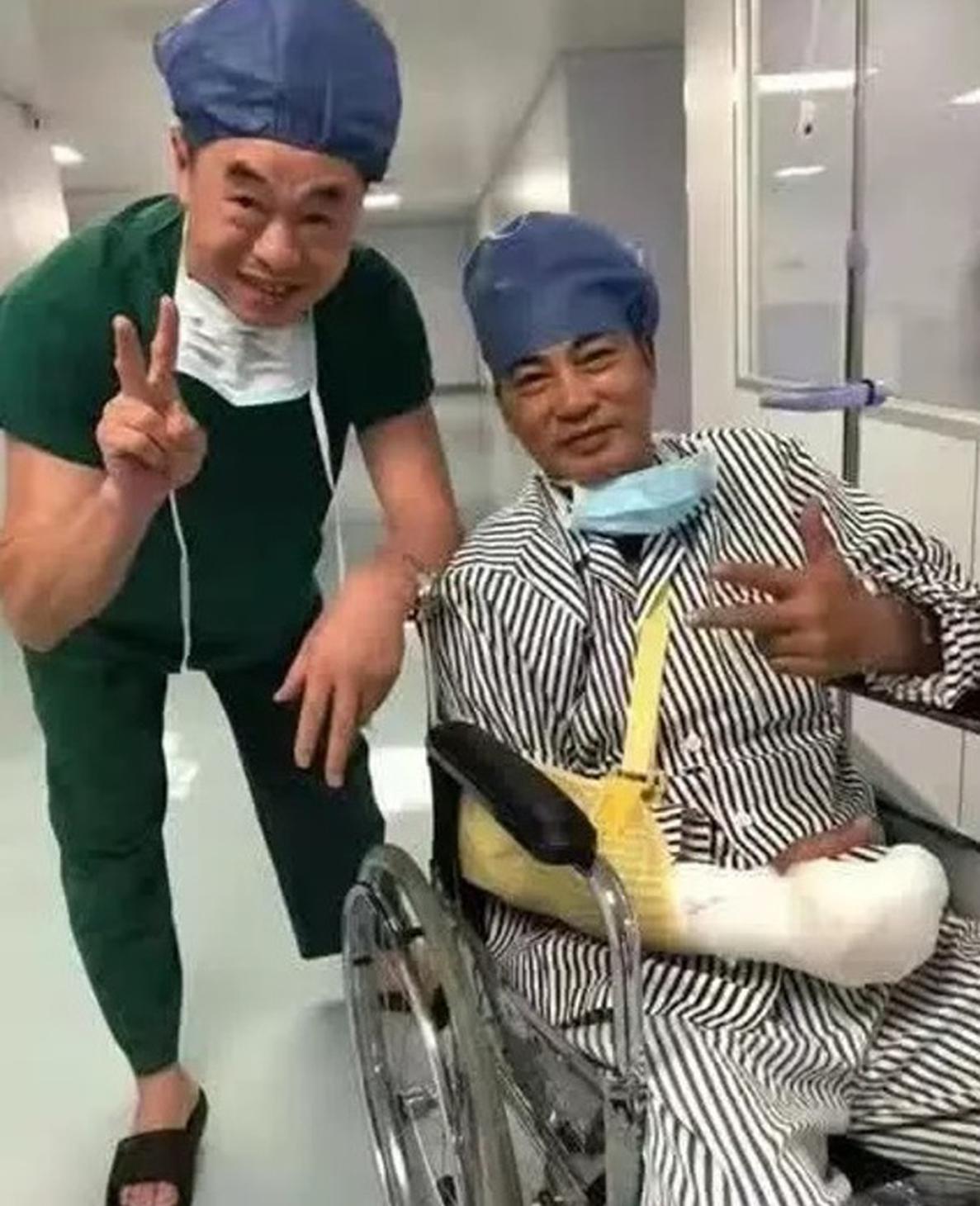 任達華手術後坐輪椅照片曝光