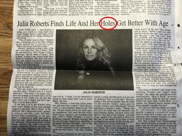 报纸印错字出糗