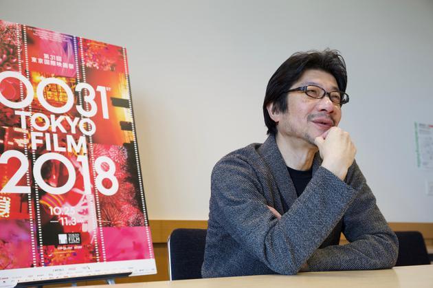 阪本順治在東京接受專訪(圖:朱恆斌)