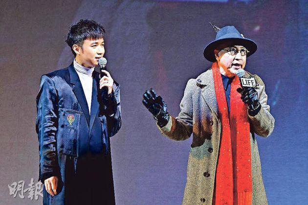 古巨基(左)為張之玨(右)的慈善演唱會打頭陣