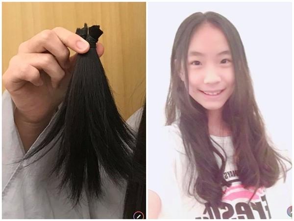 小S二女儿剪完头发坚持捐出去。