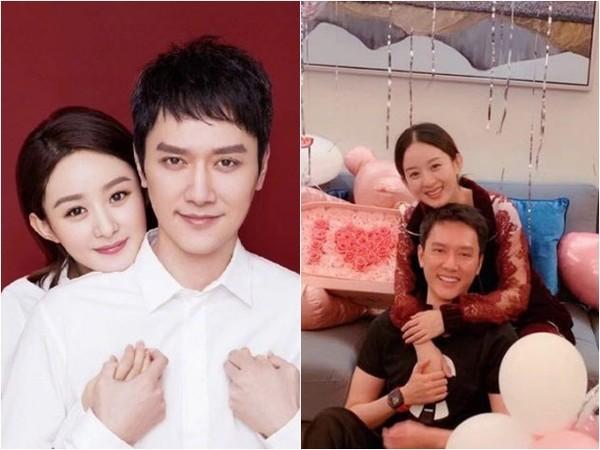 赵丽颖和冯绍峰在2019年第镇日宣布怀孕喜事
