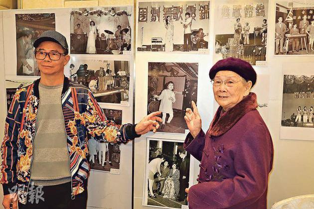 记者会上,梅妈和梅启明展出梅艳芳的珍异相片作宣传。
