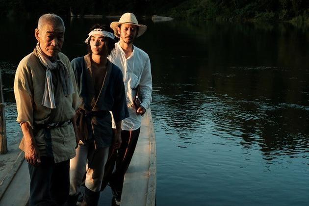 小田切让与电影《一位船夫的故事》演员柄本明、村上虹郎