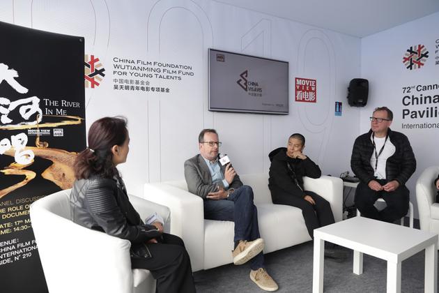 ▲左起:楊瑩、Frédéric Auburtin、蘇陽、Kristian Eidnes