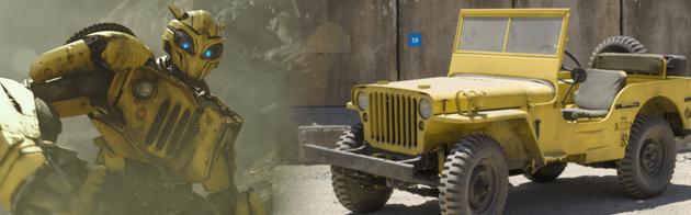 大黄蜂军用吉普车形态下还没那么萌,但战斗感十足