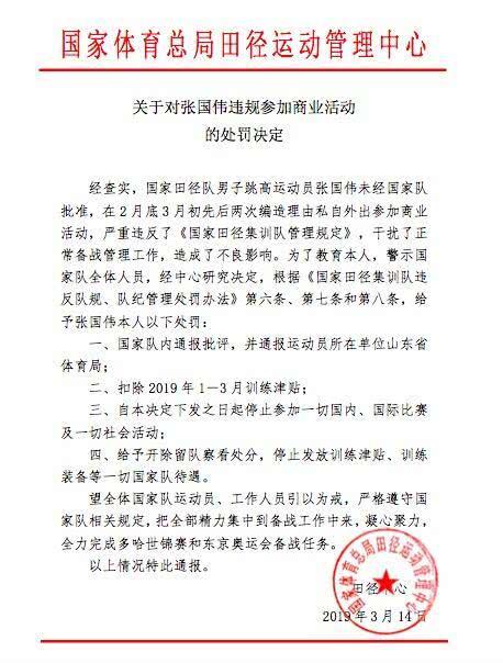 网传张国伟处罚报告