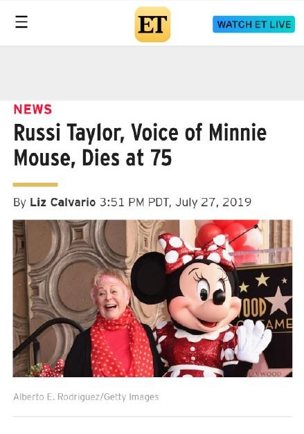 米妮配音演员露西-泰勒去世 享年75岁
