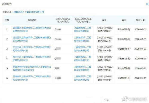 郑爽前男友公司成被执行人 员工称遭欠款二三十万