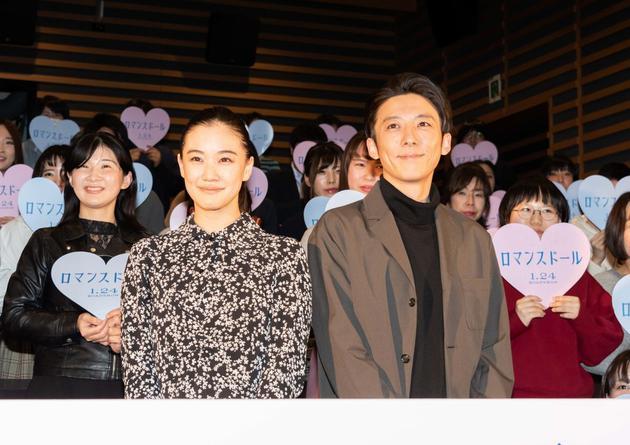 1月13日東京左起蒼井優、高橋一生出席主演電影《愛情人偶》上映前試映會