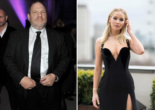 好莱坞淫魔监制Harvey Weinstein 与奥斯卡影后Jennifer Lawrence