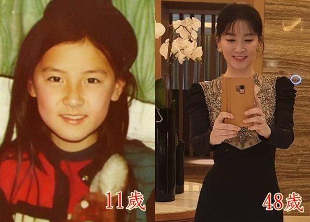 李英爱晒童年照