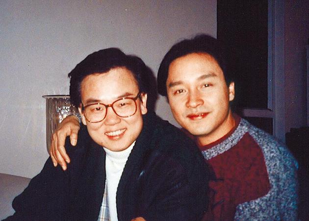 黄百鸣(左)与张国荣合作多年