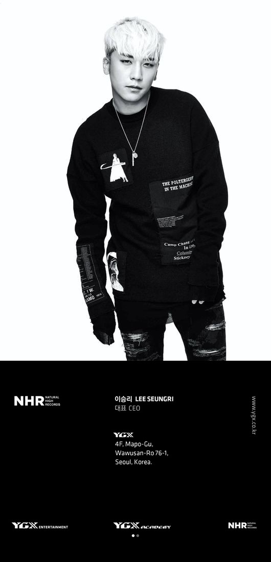BIGBANG胜利担任YGX公司CEO 梁铉锡发布其新名片