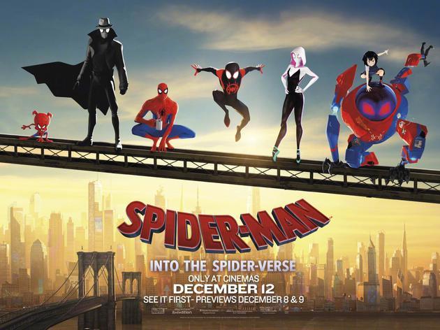 北美票房:《蜘蛛侠:平行宇宙》登顶 口碑优秀