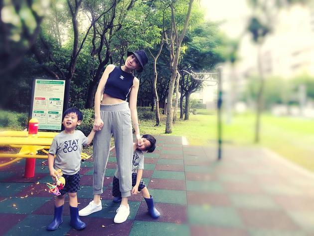 林志颖老婆陈若仪与宝贝儿子