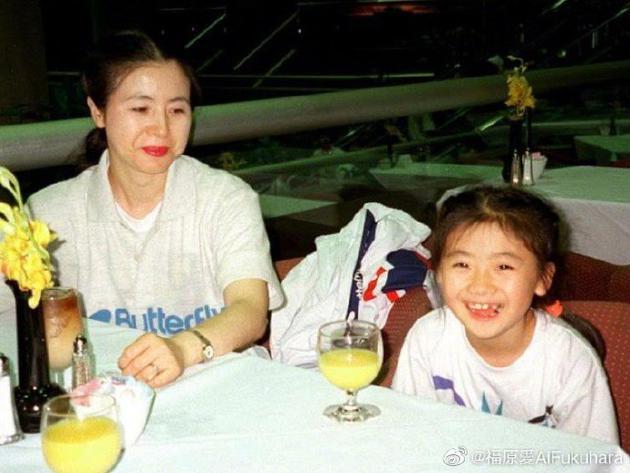 24年前福原爱与母亲合照