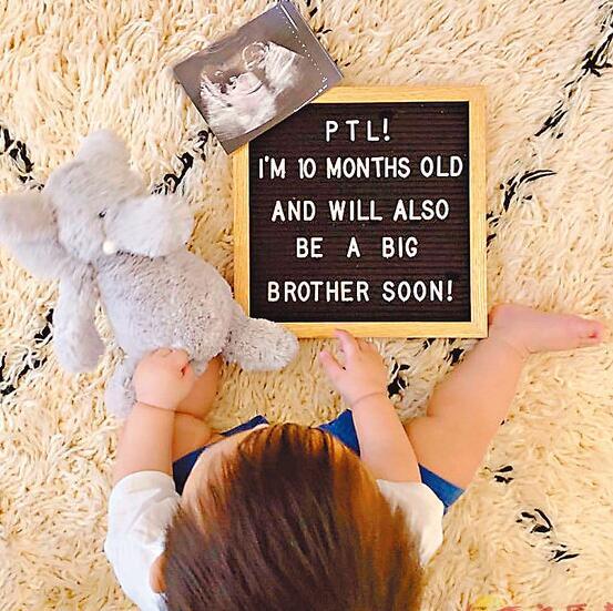 10个月大的Asher要做哥哥了