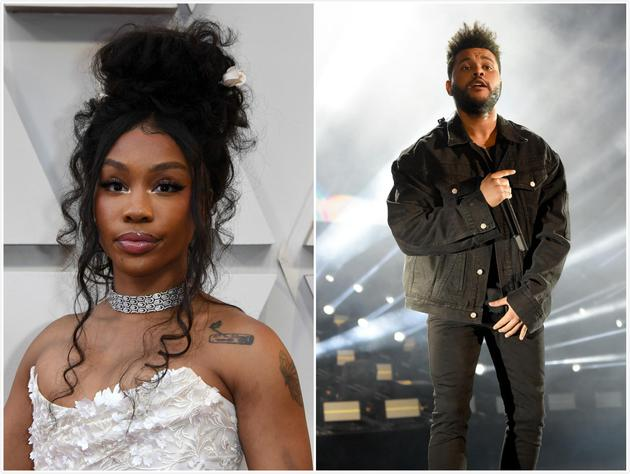 SZA(左图)与The Weeknd(右图)