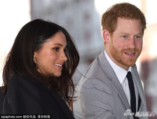 哈里王子与单身妻梅根