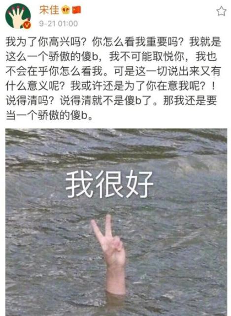 网曝宋佳发博后秒删