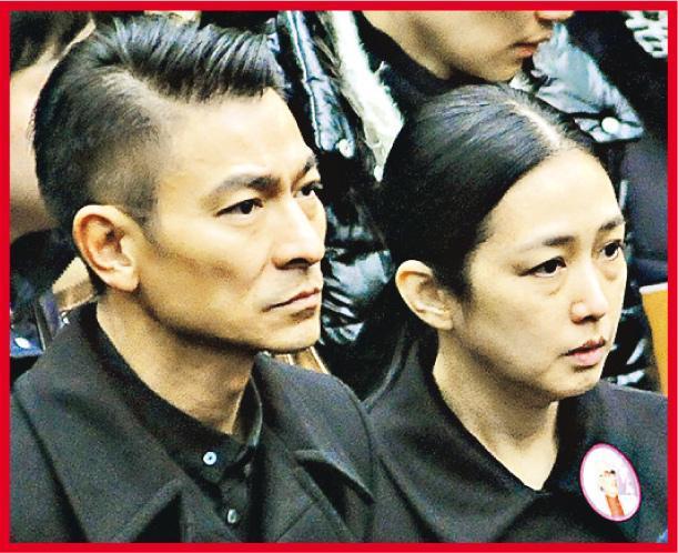 朱丽倩一直做刘德华背后的女人给予支持。