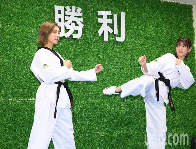 郭雪芙与席惟伦特别重现戏里重要的跆拳道元素,两人简单过招。