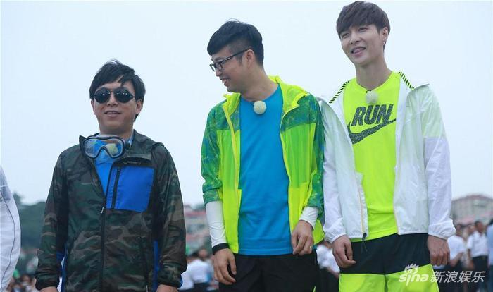 《极限挑战》里的黄渤、王迅和张艺兴