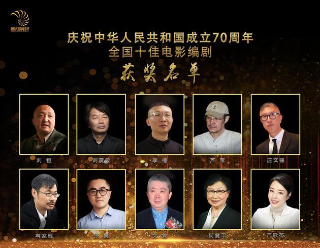 新时代国际电影节十佳编剧揭晓 刘恒严歌苓等获奖