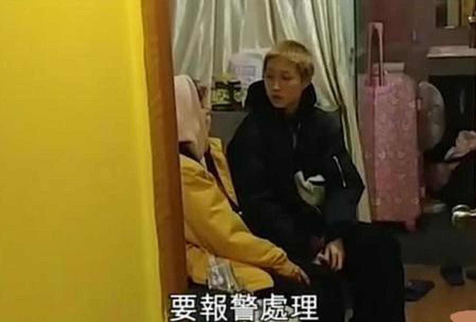 吴卓林与网红妻子。