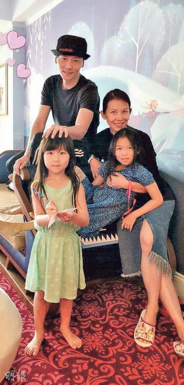 育有兩個女兒的張晉與蔡少芬,即將變爲幸福五口之家。
